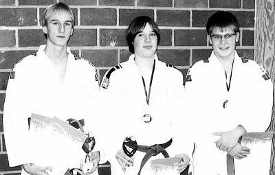 Den Lohn für ihren Trainingsfleiß ernteten die U-20-Judokas des TV 1868 Burghausen, Sebastian Grünleitner (von links), Lars Ehlert und Peter Bonin, bei den Bayerischen Kata-Meisterschaften